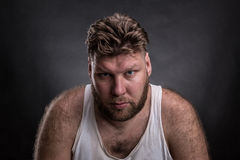 człowiek zadumany portret Zdjęcie Royalty Free