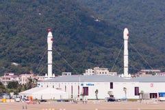 CZ-Raketen auf dem airshow lizenzfreie stockbilder