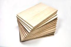Cząsteczki deski drewno obrazy stock