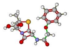cząsteczkowa penicylinowa struktura v Zdjęcie Stock