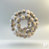 Cząsteczkowa struktura z sferami 3d wektor Zdjęcie Royalty Free