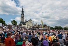 CZĘSTOCHOWSKI, POLSKA, Maj - 21, 2016: Czuwanie Katolicki Charyzmatyczny R Fotografia Royalty Free