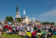 CZĘSTOCHOWSKI, POLSKA, Maj - 21, 2016: Czuwanie Katolicki Charyzmatyczny R Zdjęcia Royalty Free