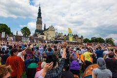 CZĘSTOCHOWSKI, POLSKA, Maj - 21, 2016: Czuwanie Katolicki Charyzmatyczny R Obraz Royalty Free