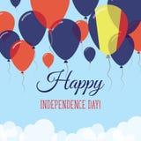 Czad dnia niepodległości mieszkania kartka z pozdrowieniami Zdjęcie Royalty Free