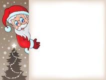 Czaić się Święty Mikołaj z copyspace 5 Zdjęcia Stock
