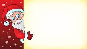 Czaić się Święty Mikołaj z copyspace 3 Obrazy Royalty Free