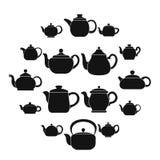 Czajnika teapot ikony ustawiać, prosty styl ilustracji