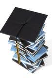 czapki matura książki Zdjęcia Stock