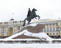 Czar Peter First Saint Petersburg do monumento fotografia de stock royalty free