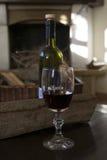 czara czerwone wino Obraz Royalty Free