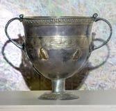 czara 2nd wiek reklama Srebro, ozłaca Zdjęcia Stock