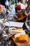 czara ręki degustaci wino Obraz Stock