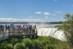 Czarci gardło Iguazu Spada przy Argentyńską granicą Zdjęcia Stock