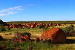 Czarci ` s marmury, terytorium północny Zdjęcie Royalty Free