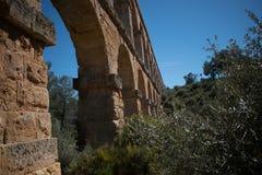 Czarci ` s most w mieście Tarragona obraz royalty free