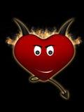 Czarci serce Obraz Stock