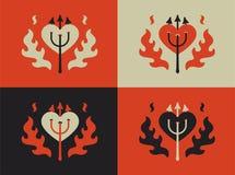 CZARCI serce Płaska wektorowa ilustracja ilustracja wektor