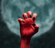Czarcia ręka przy północą Obraz Royalty Free