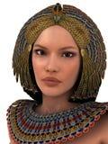 Czarina of Egypt. Portrait of egyptian woman in beautiful costume Stock Photos