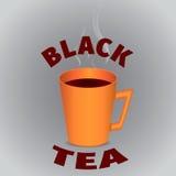 czarną herbatę Fotografia Royalty Free