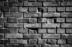 Czarna ściana z cegieł tła tekstura Zdjęcia Royalty Free