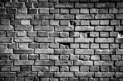 Czarna ściana z cegieł tła tekstura Zdjęcie Royalty Free