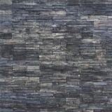 Czarna ściana z cegieł tekstura stonewall deseniowego projekt dla dekorujący Zdjęcie Royalty Free