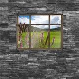 Czarna ściana z cegieł tekstura stonewall deseniowego projekt dla dekorujący Fotografia Stock