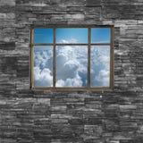 Czarna ściana z cegieł tekstura stonewall deseniowego projekt dla dekorujący Obrazy Stock