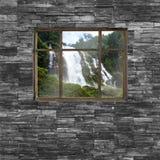 Czarna ściana z cegieł tekstura stonewall deseniowego projekt dla dekorujący Obraz Stock