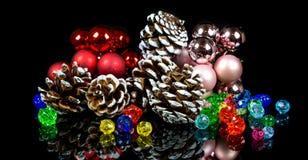czarna świątecznej dekoracji Obraz Royalty Free