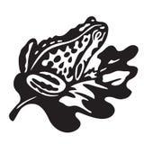 Czarna żaba - wektorowa ilustracja ilustracja wektor
