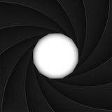 Czarna żaluzi apertura z białym otwarciem royalty ilustracja