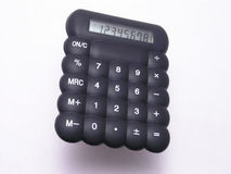 czarna 1 kalkulator gumy Zdjęcia Royalty Free