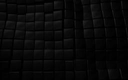 Czarna 3d sześcianu tła rzemienna tekstura Zdjęcia Stock
