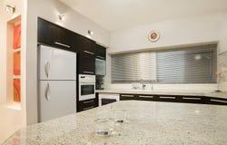 czarna 4 kuchnia Zdjęcie Stock