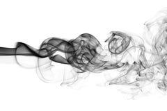 Czarna abstrakta dymu fala odizolowywająca na białym tle Zdjęcie Royalty Free