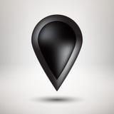 Czarna bąbel ikony odznaka z Lekkim tłem ilustracja wektor