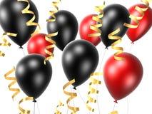 czarna balonowa czerwone. Zdjęcia Royalty Free