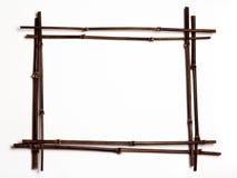 czarna bambusowa rama copyspac w zdjęcia stock