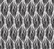 Czarna biała tekstura z falistego włosy liniami Pionowo łańcuchy i warkocze kolorowych deseniowych planowanymi różnych możliwych  ilustracja wektor