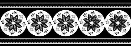 Czarna Białych kwiatów granica ilustracji
