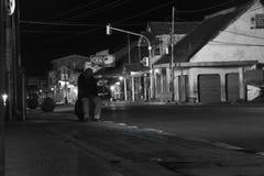 Czarna biała ulica Zdjęcie Royalty Free