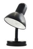 Czarna biurowa stołowa lampa odizolowywająca Zdjęcie Royalty Free