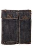 Czarna błękitna cajgowa torba Zdjęcia Royalty Free