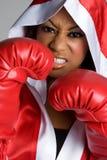czarna bokserska kobieta Fotografia Stock