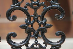 Czarna brama z ślimacznicami Obrazy Stock