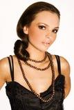 czarna brunetka Zdjęcia Stock