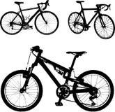 Czarna bycicle sylwetka Zdjęcie Stock